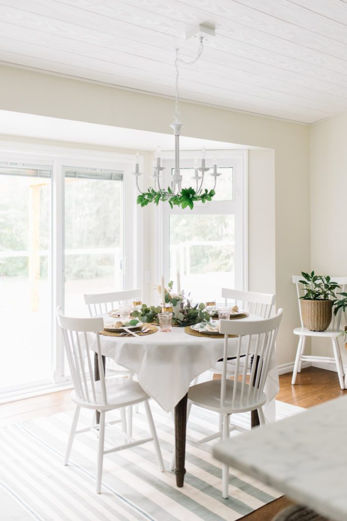 A light bright dining nook makes small space living enjoyable