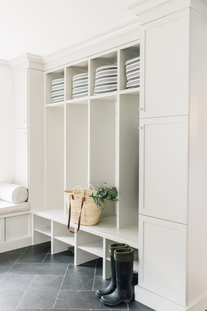 Updated mudroom with storage cubby