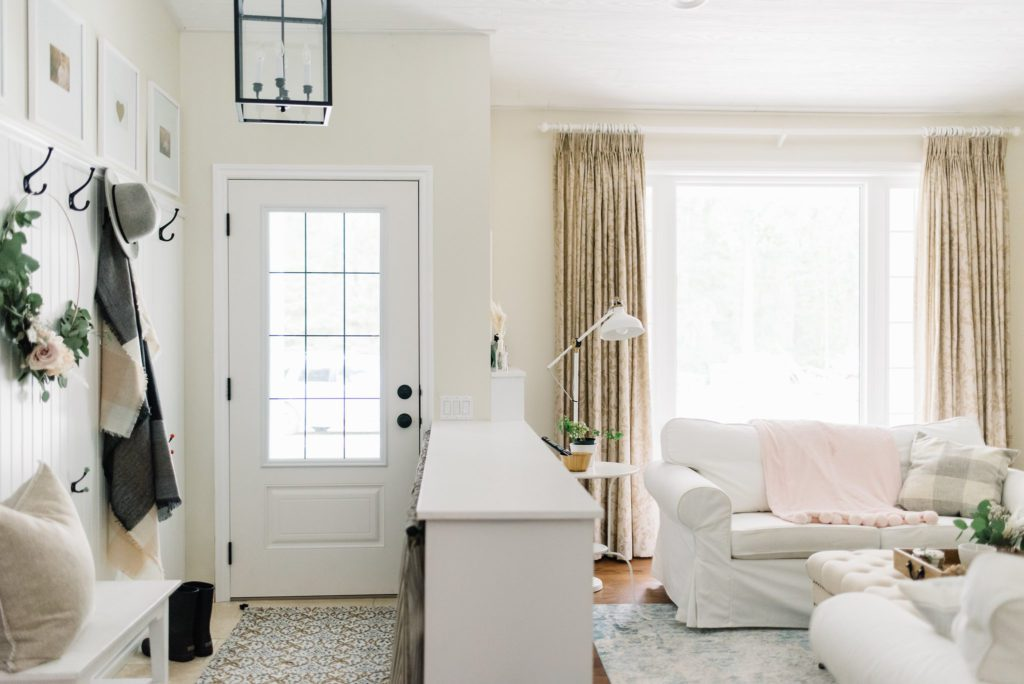 Delineating a proper entryway is important in a small house renovation
