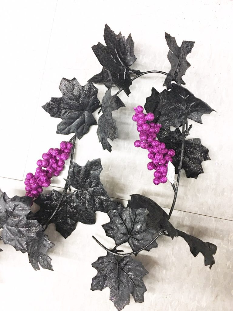 Dollar store garland gets a trim to make it perfect for Halloween