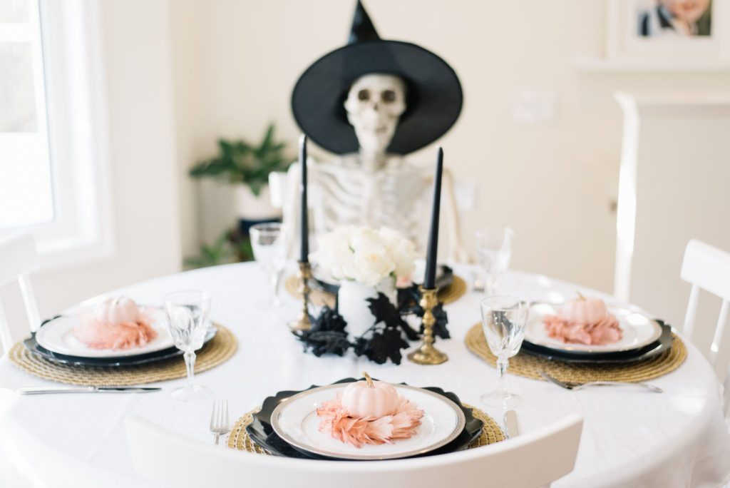 A Halloween Tablescape looks luxe for less