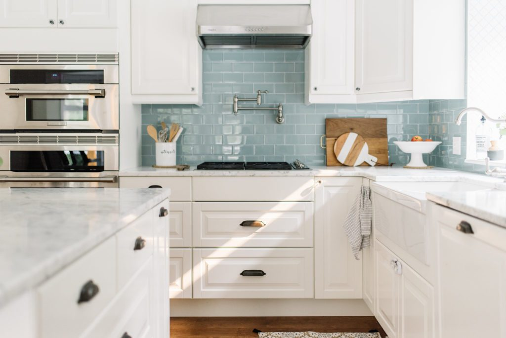 A small kitchen can have luxury features too when designed well