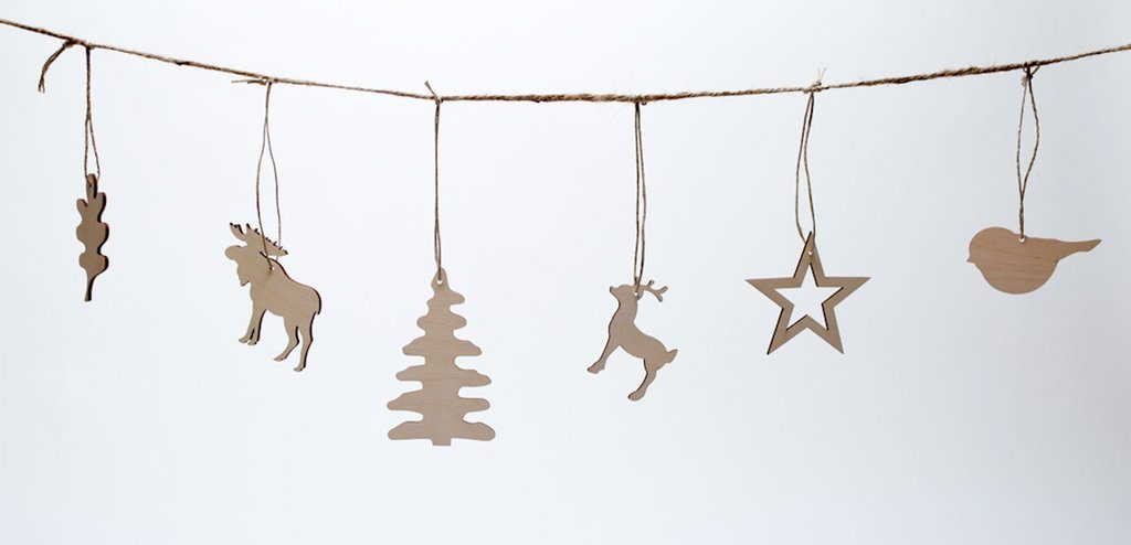 Wooden ornaments from Pi'lo-The Ginger Home simple Christmas