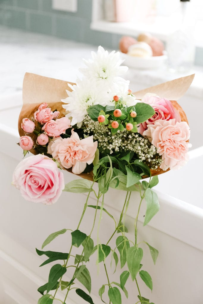 Fresh florals are a must when dreaming up Valentine's Day Decorating Ideas at The Ginger Home