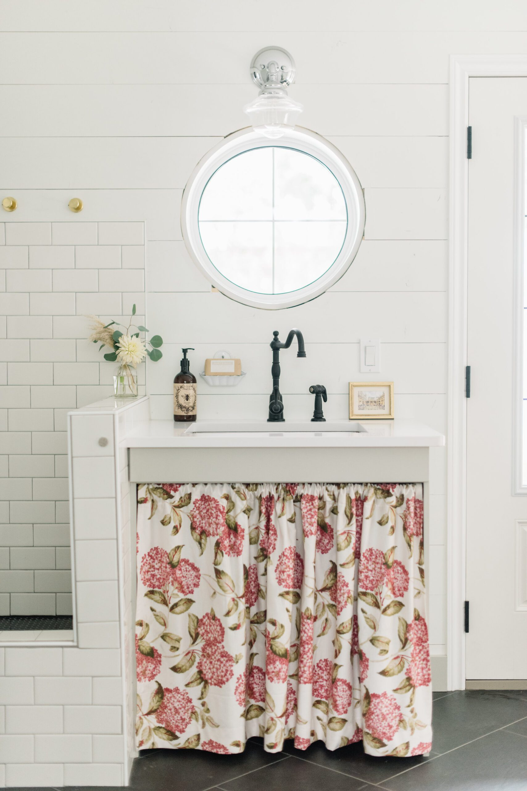Sink and bootwash in the mudroom at The Ginger Home