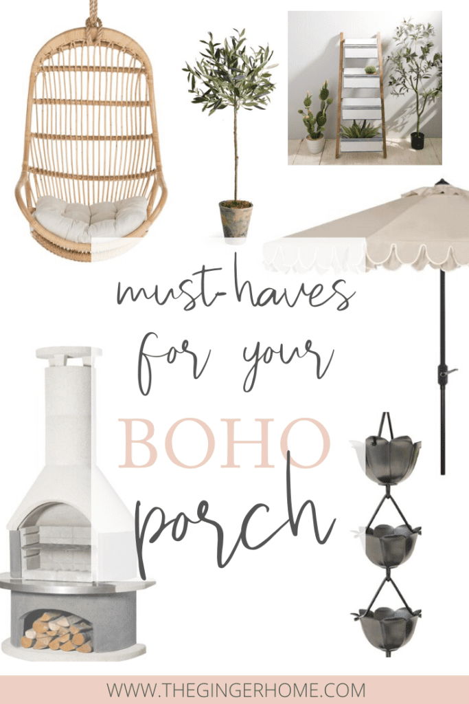How to Design a Boho Porch for spring