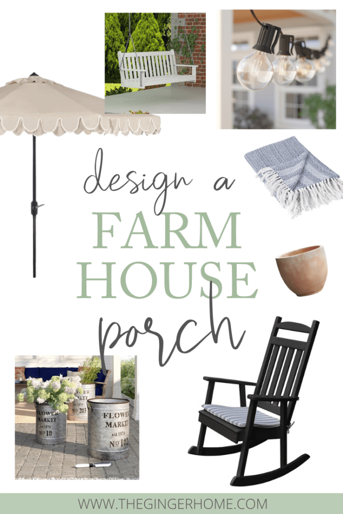 How to Design a Farmhouse Porch for spring