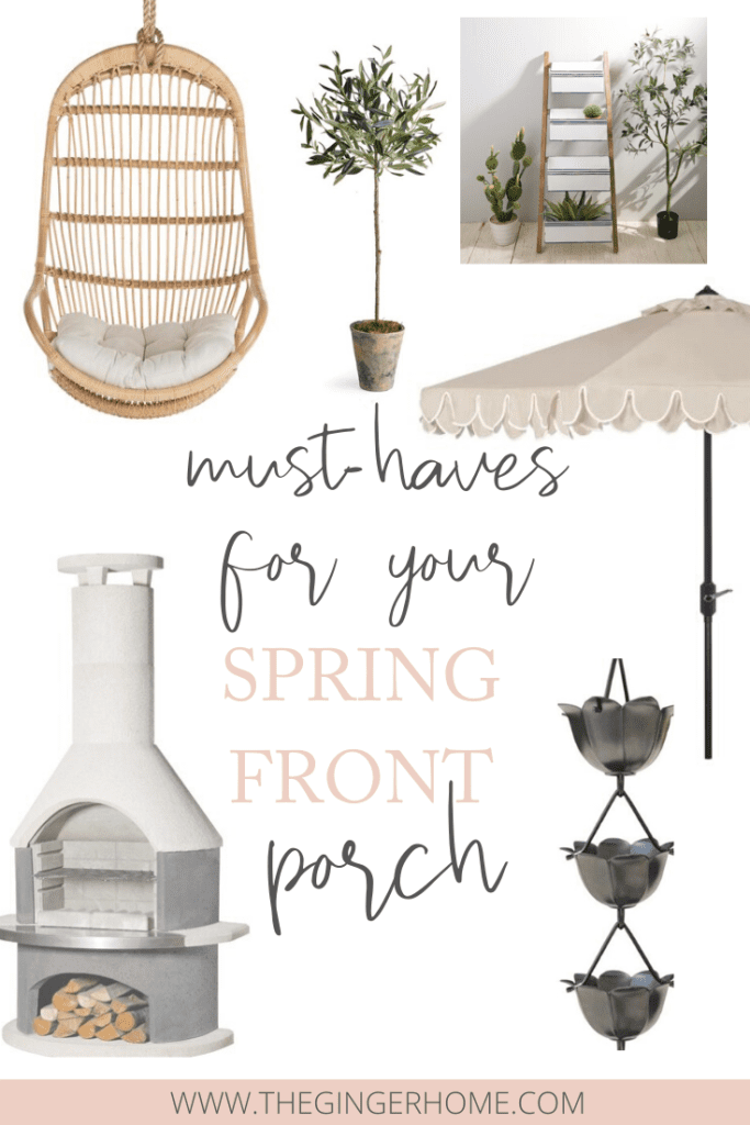 Must-haves for a boho spring porch
