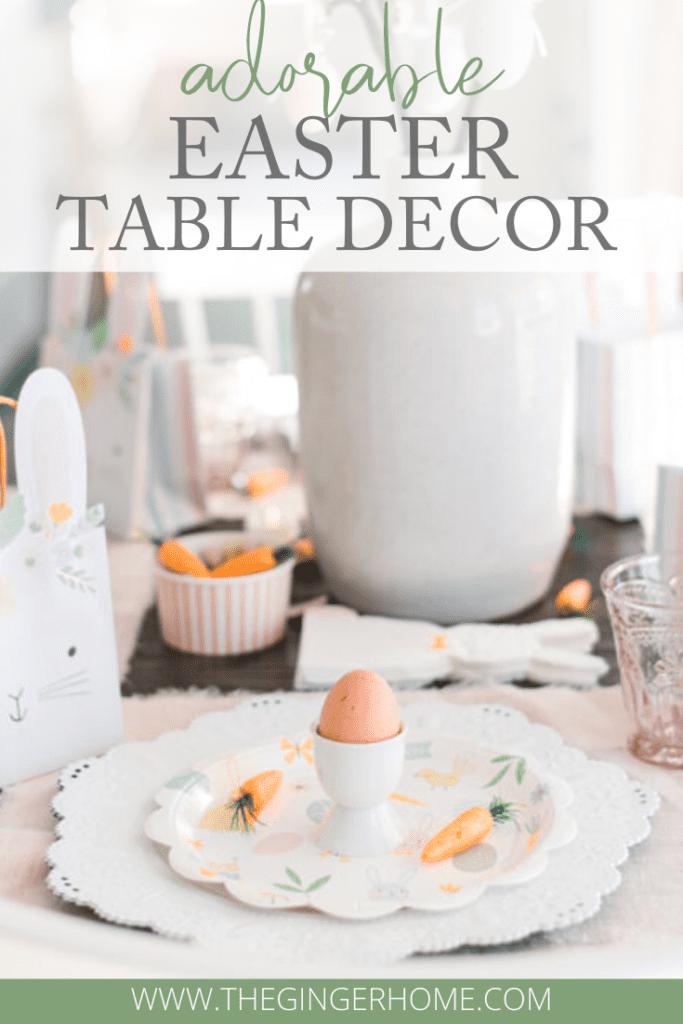 Adorable Easter Table Decor