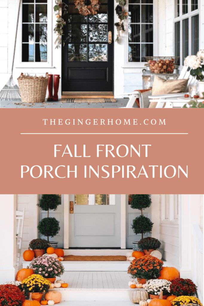 Fall front porch decor ideas!