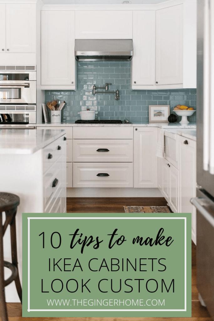 How to make an ikea kitchen look custom