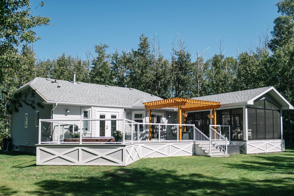 Updated modern farmhouse exterior