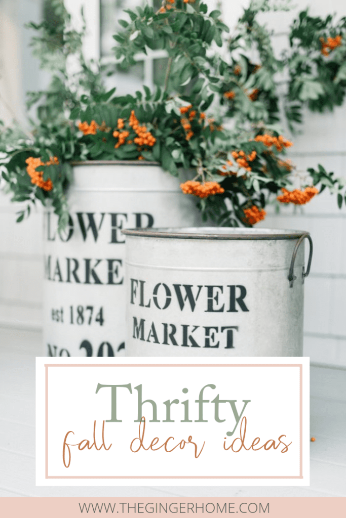 Thrifty fall front porch decor