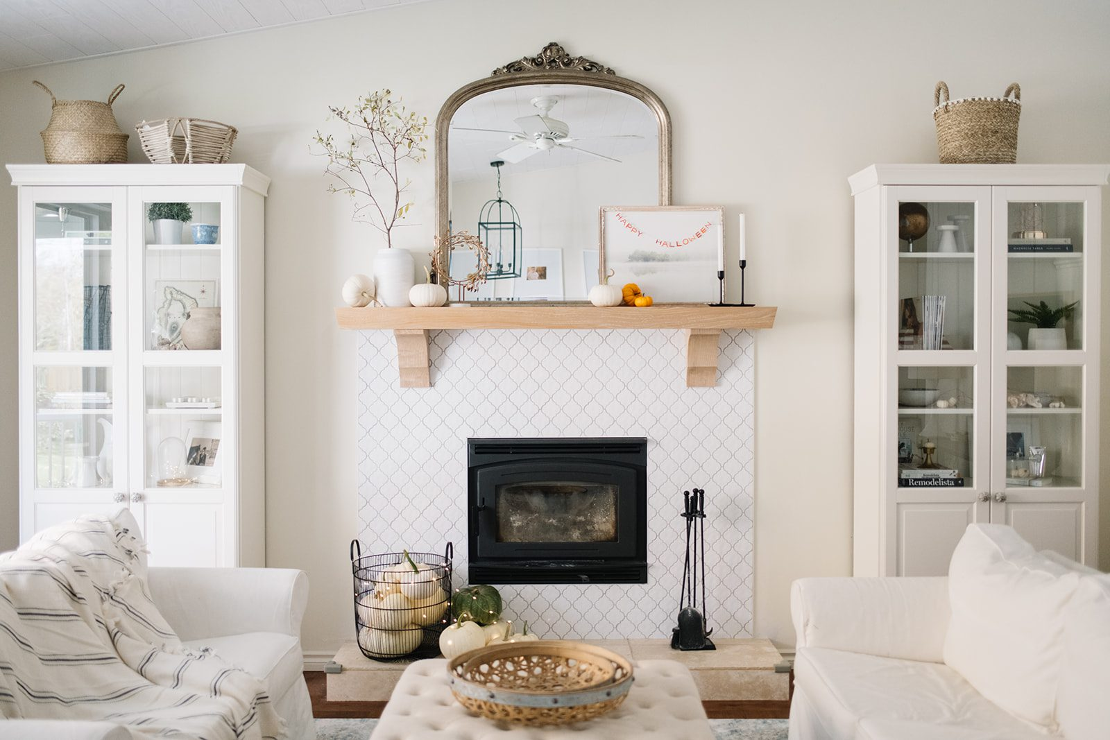 Subtle Halloween fireplace