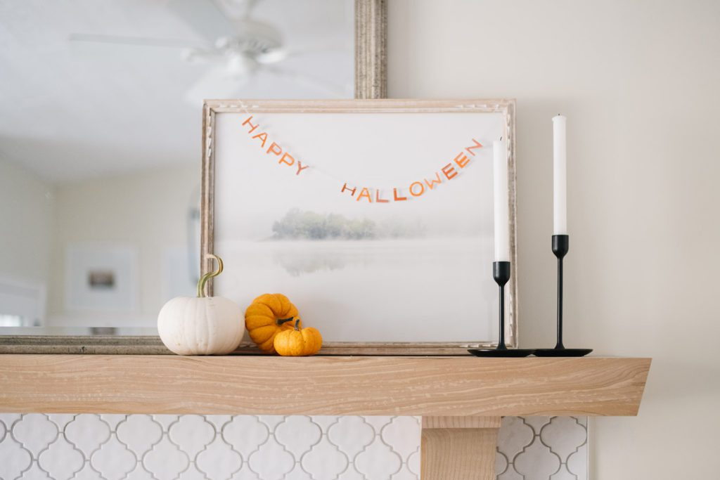 Subtle Halloween fireplace