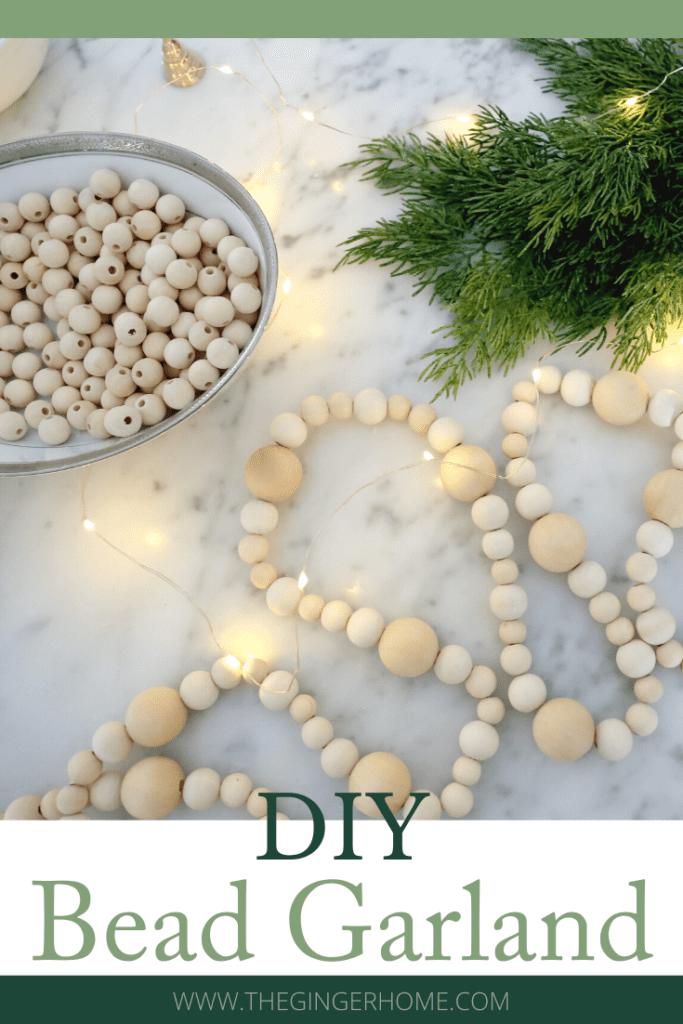 DIY Bead Garland Christmas