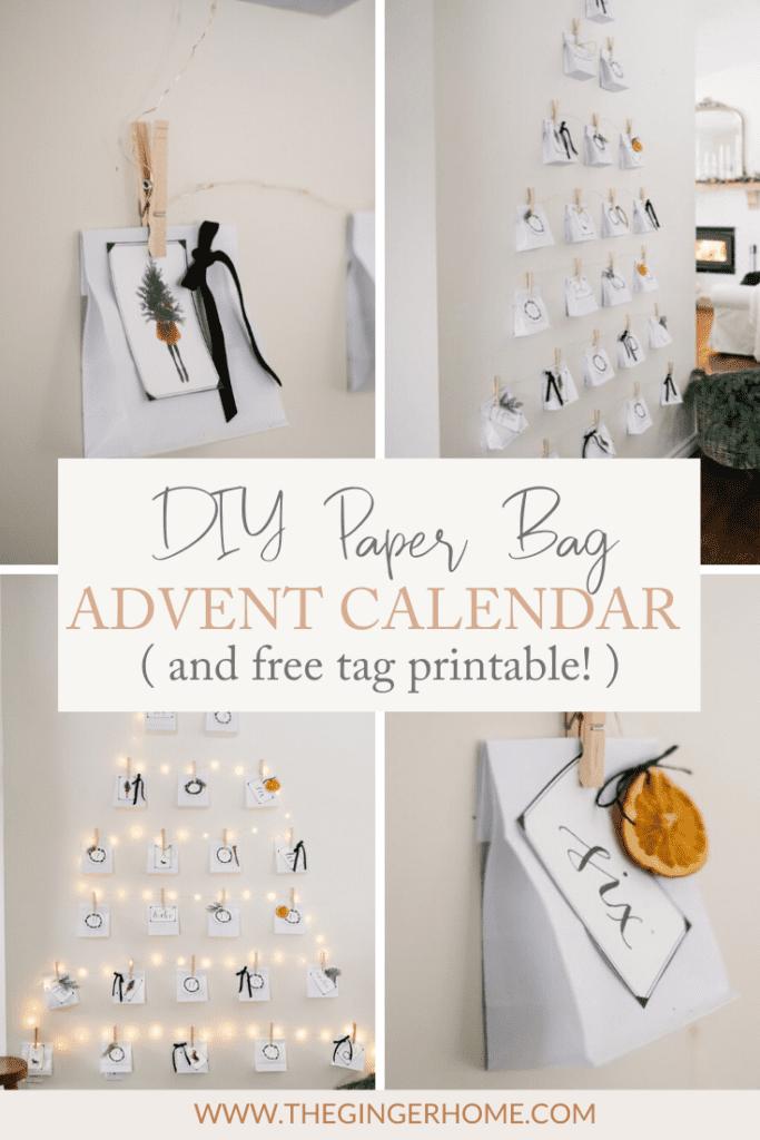DIY Paper Bag Christmas Advent Calendar
