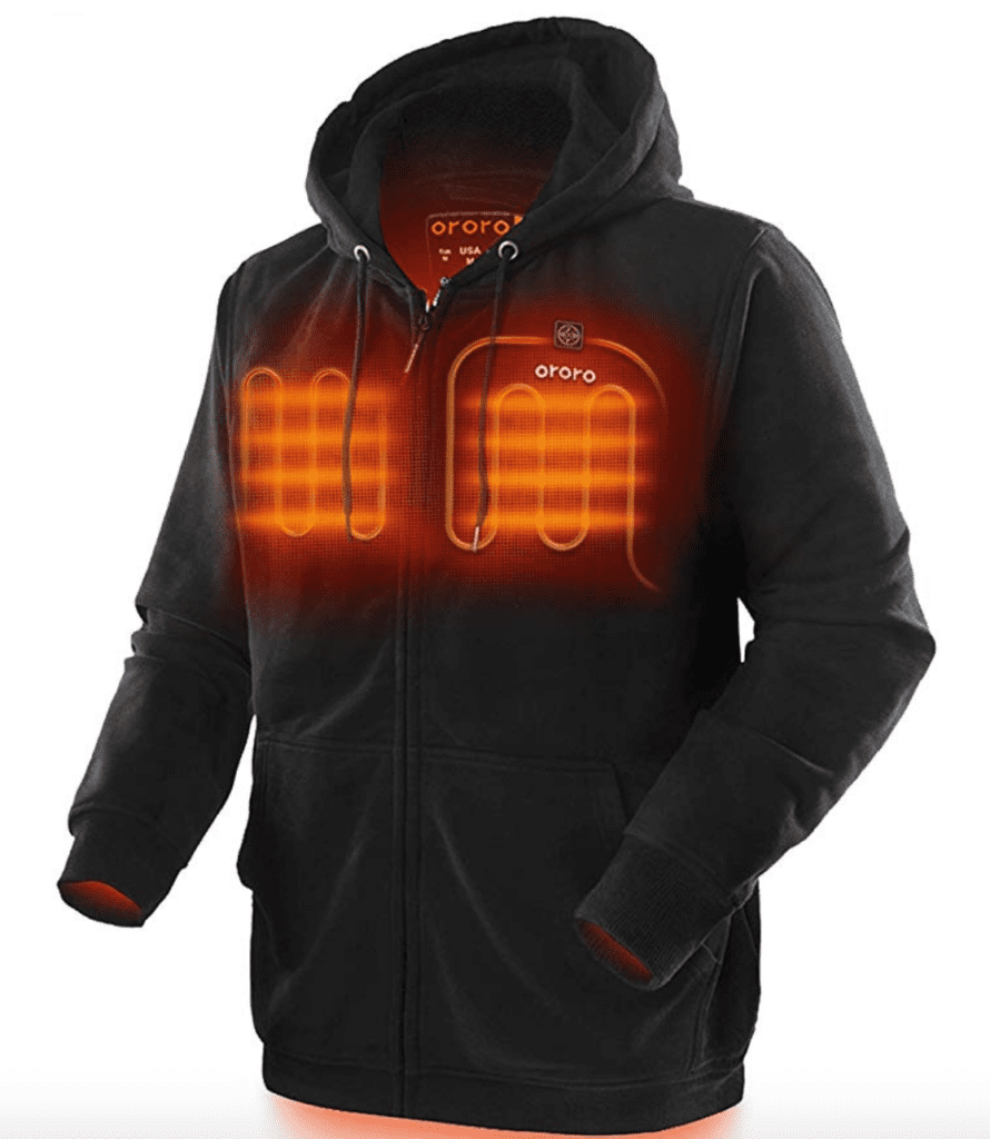 A heated hoody makes an excellent Christmas gift for men!