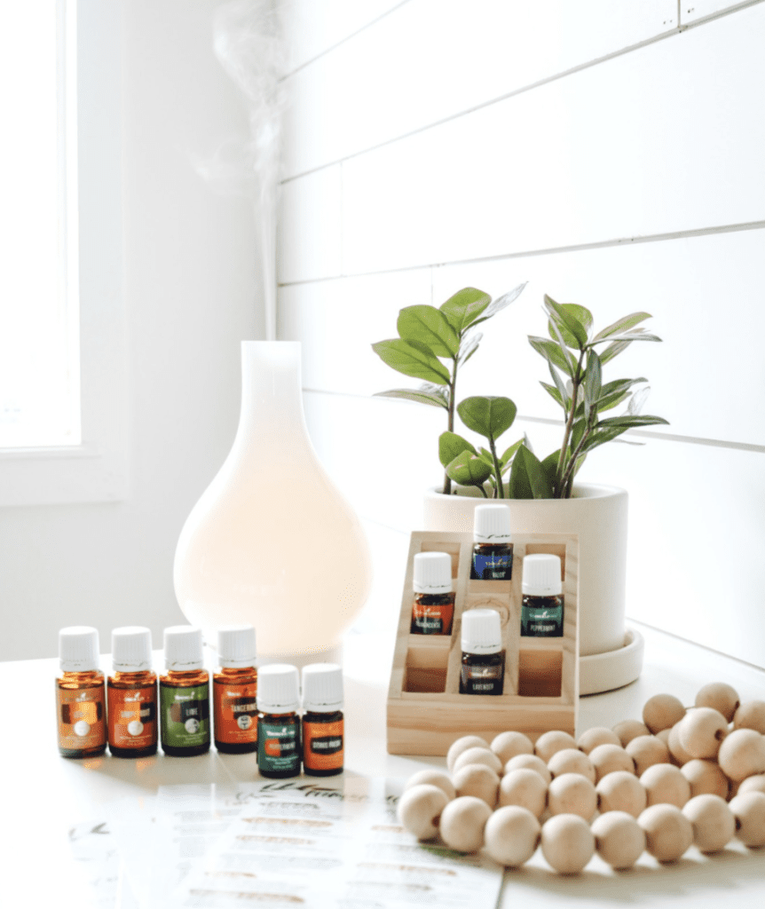 Essential oil starter kit with Lucia diffuser