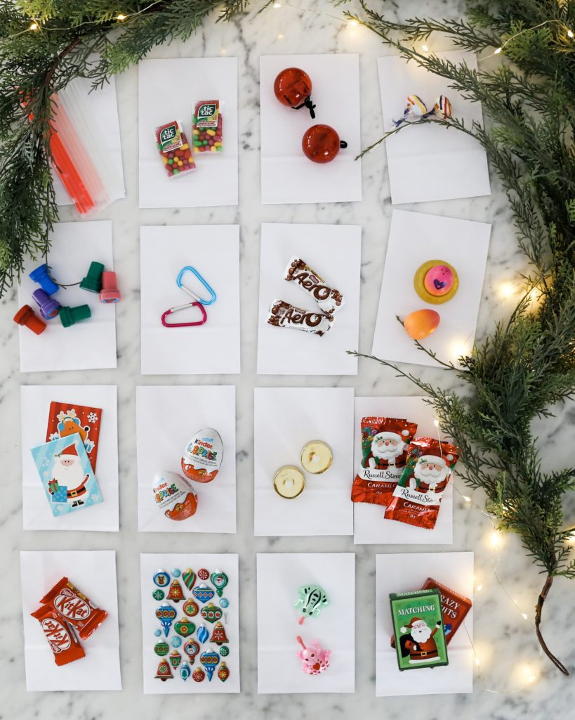 Non-candy items for kids advent calendar
