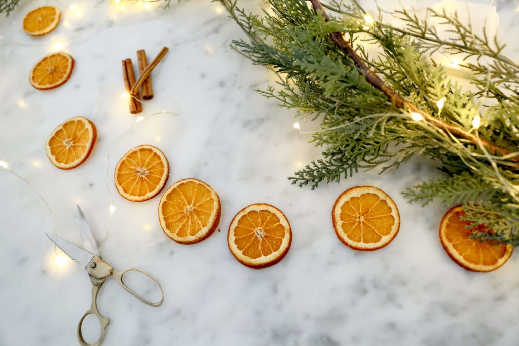 Dried Orange Garlands are simple to make!