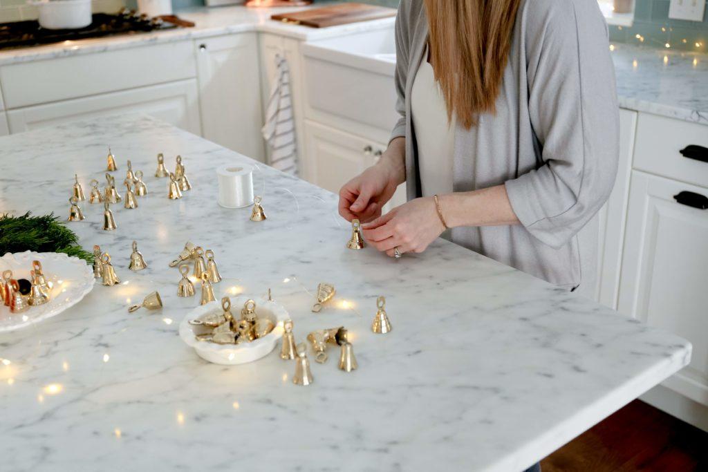 make a brass bell garland