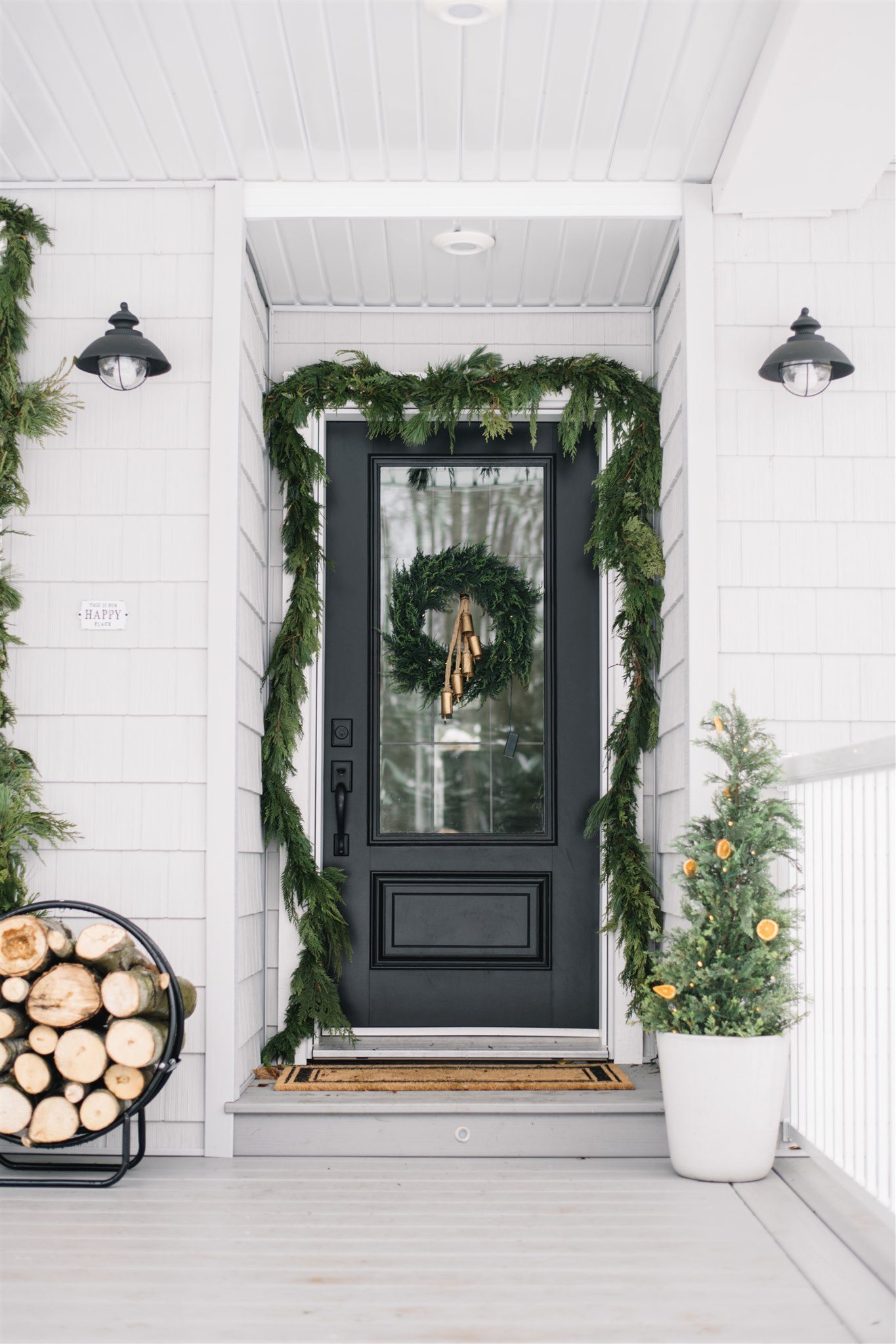 Neutral scandinavian front door