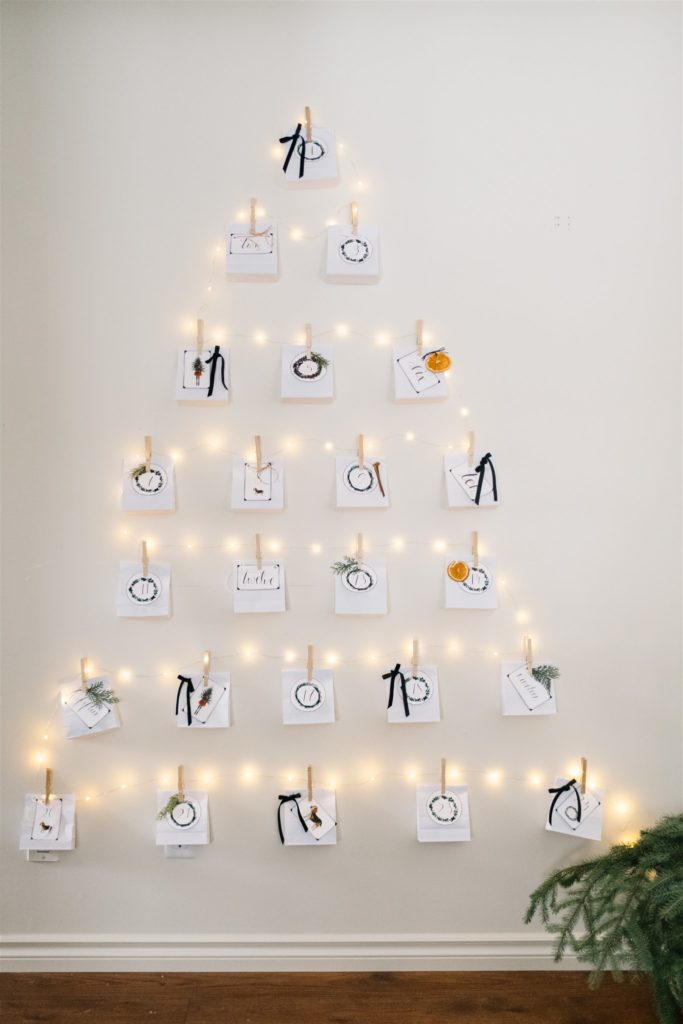 Create a DIY advent calendar Christmas tree!