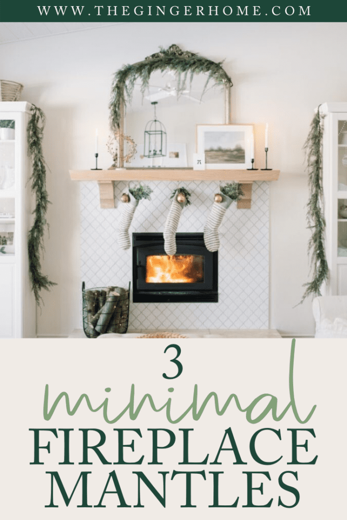 3 minimal fireplace mantle ideas for Christmas