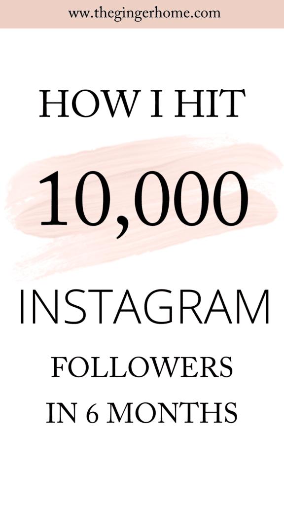 How I hit 10k Instagram followers