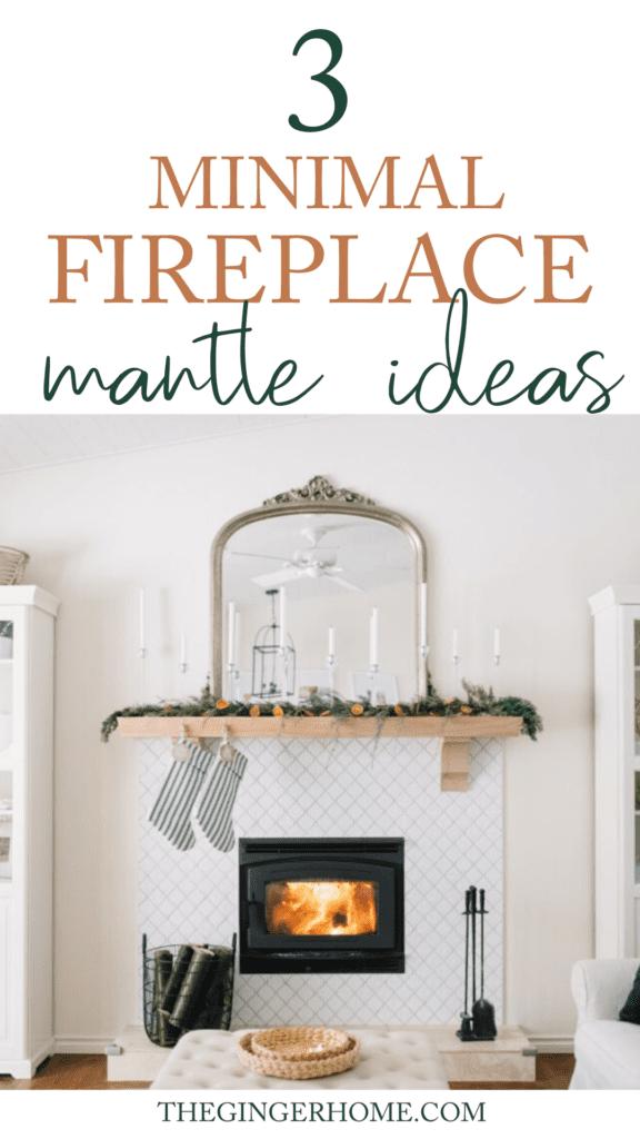 Minimal fireplace mantle ideas