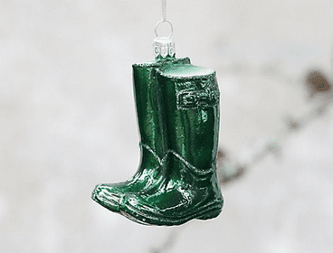 The most cheerful little green boots ornament