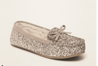 Glitter slippers make the season bright!