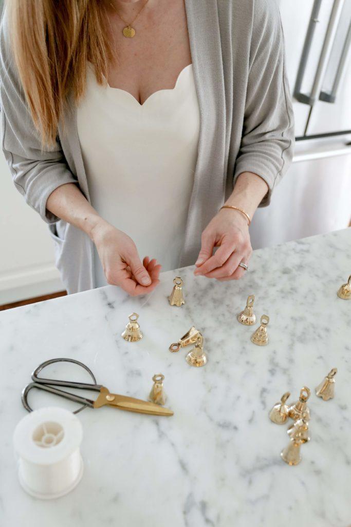 use brass bells to make a garland