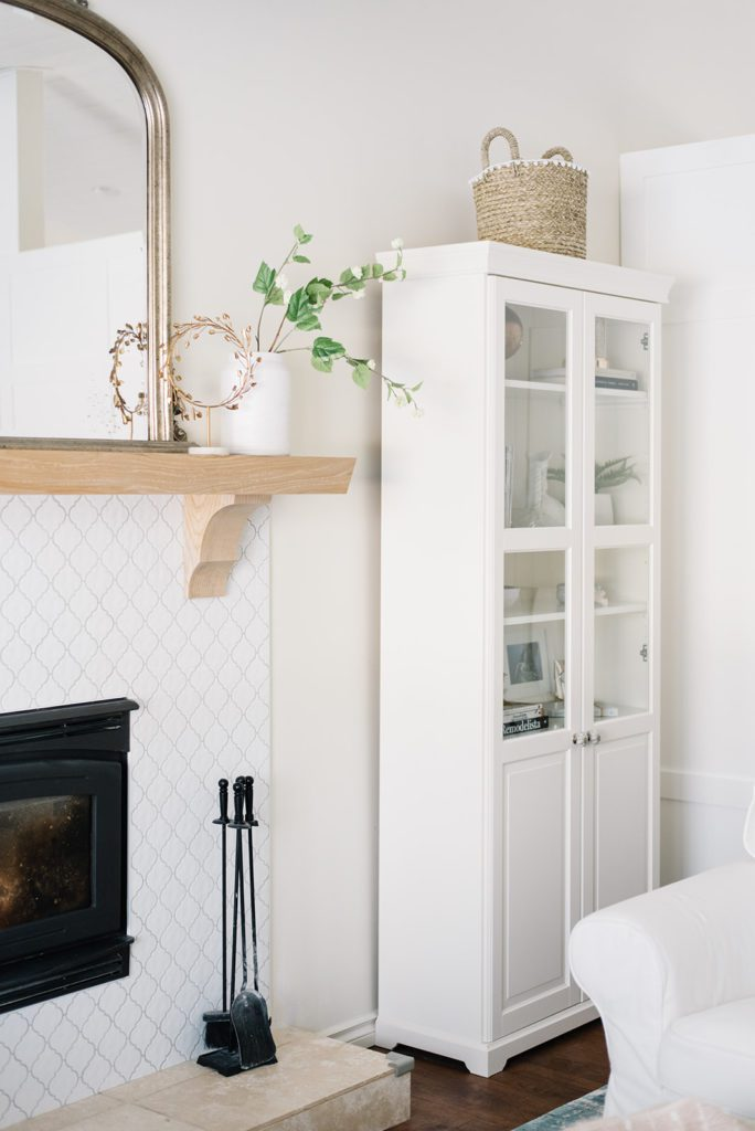 Simply rearranging and editing your room layout can be an easy winter decor idea
