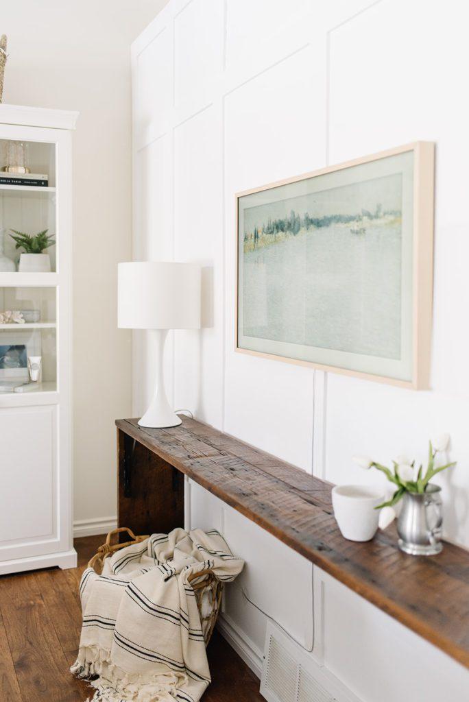 Frame TV displays winter art
