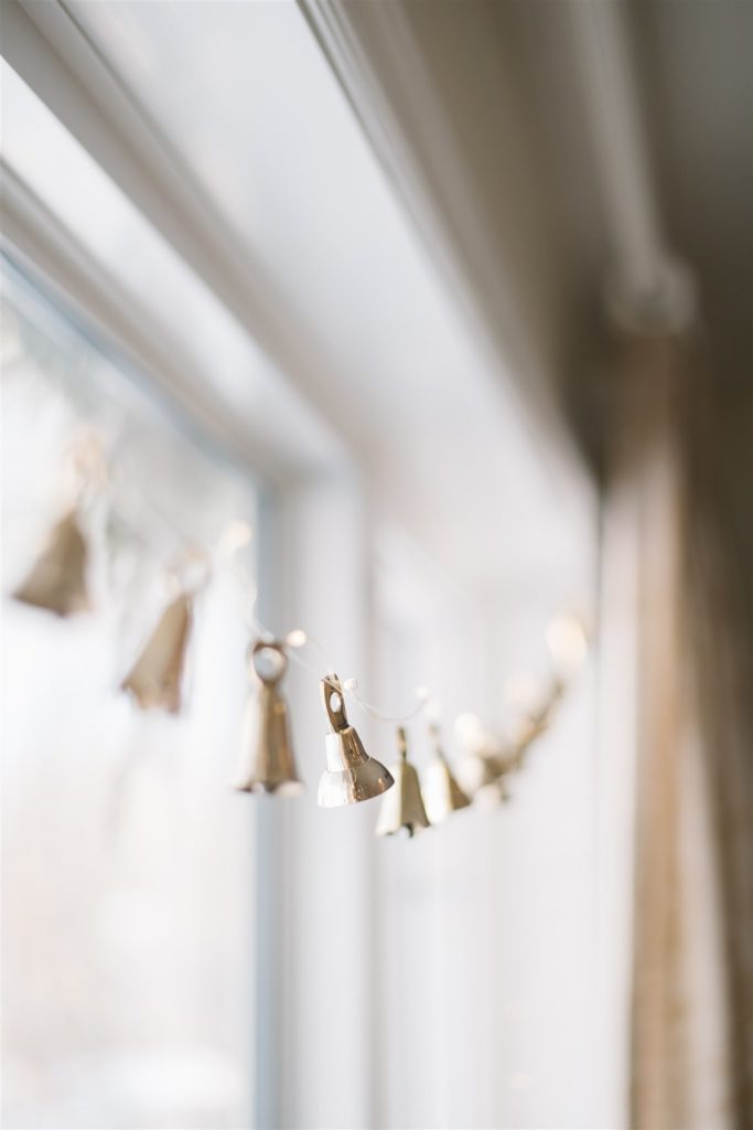 brass bell garlands are simple to make