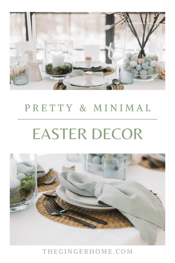 Pretty & Minimal Easter Table Decor