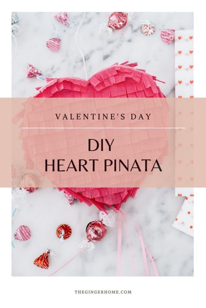 How to make a Valentine's Day heart pinata