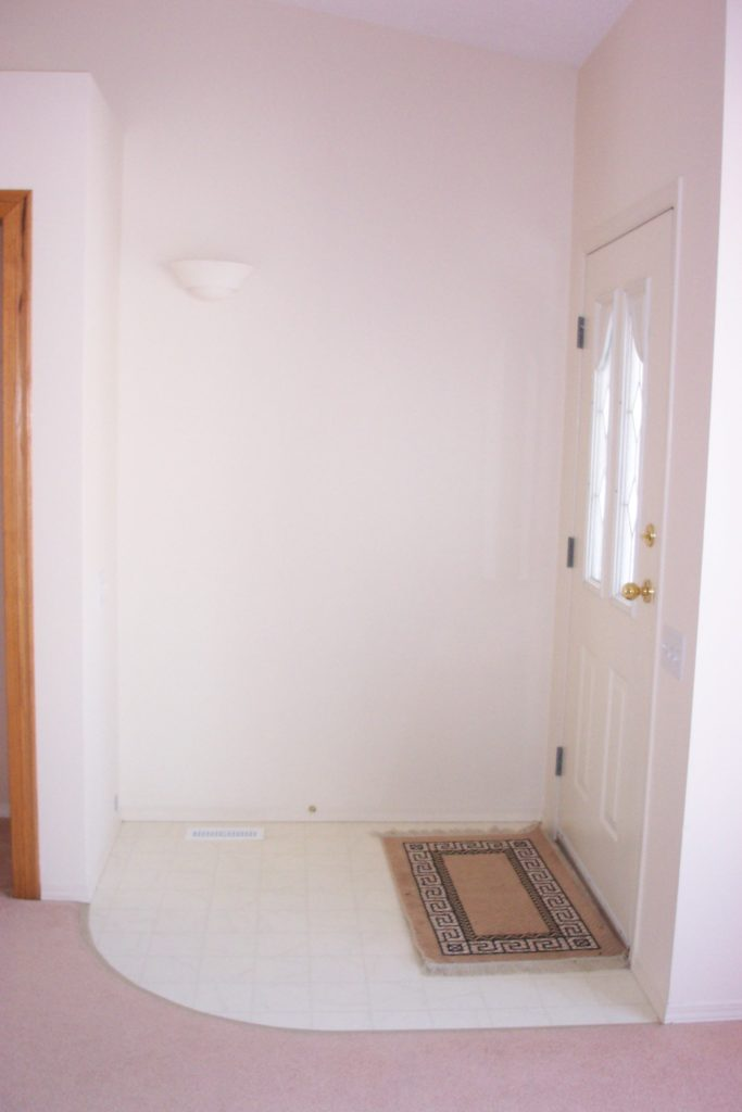 A non functional dated entryway