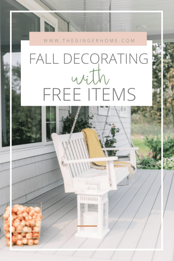 Fall Decorating with free items