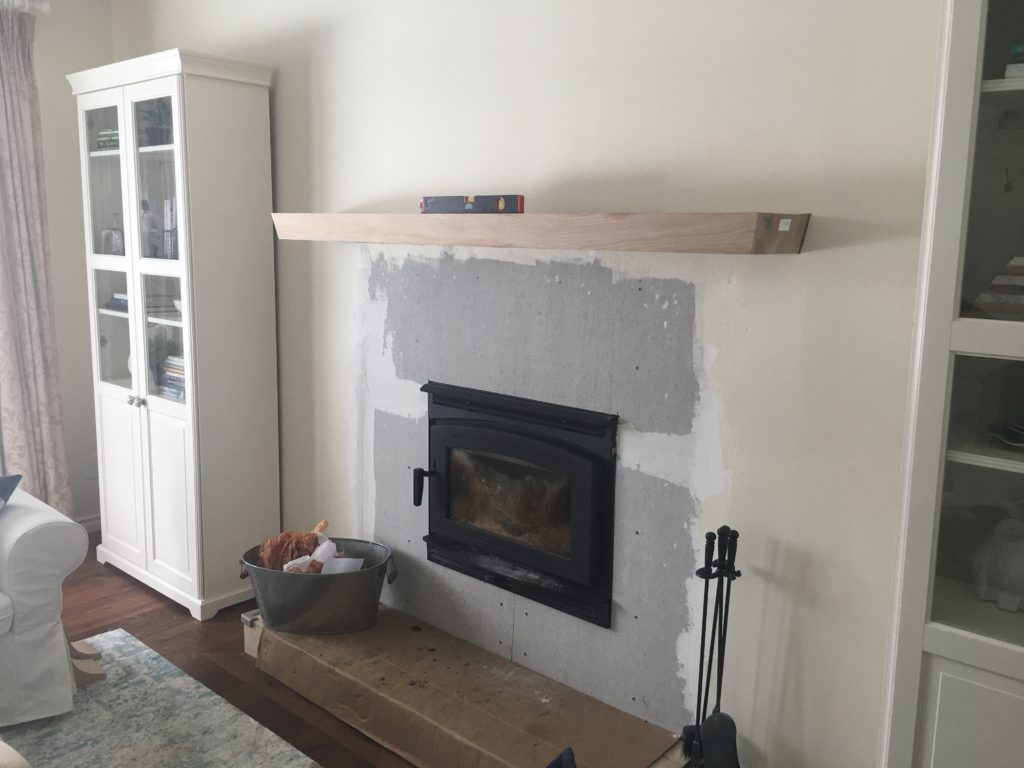 Fireplace makeover design