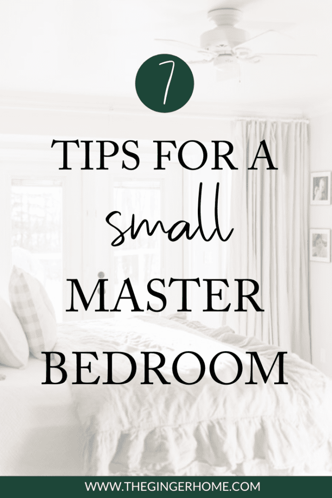 7 tips to design a tiny master bedroom
