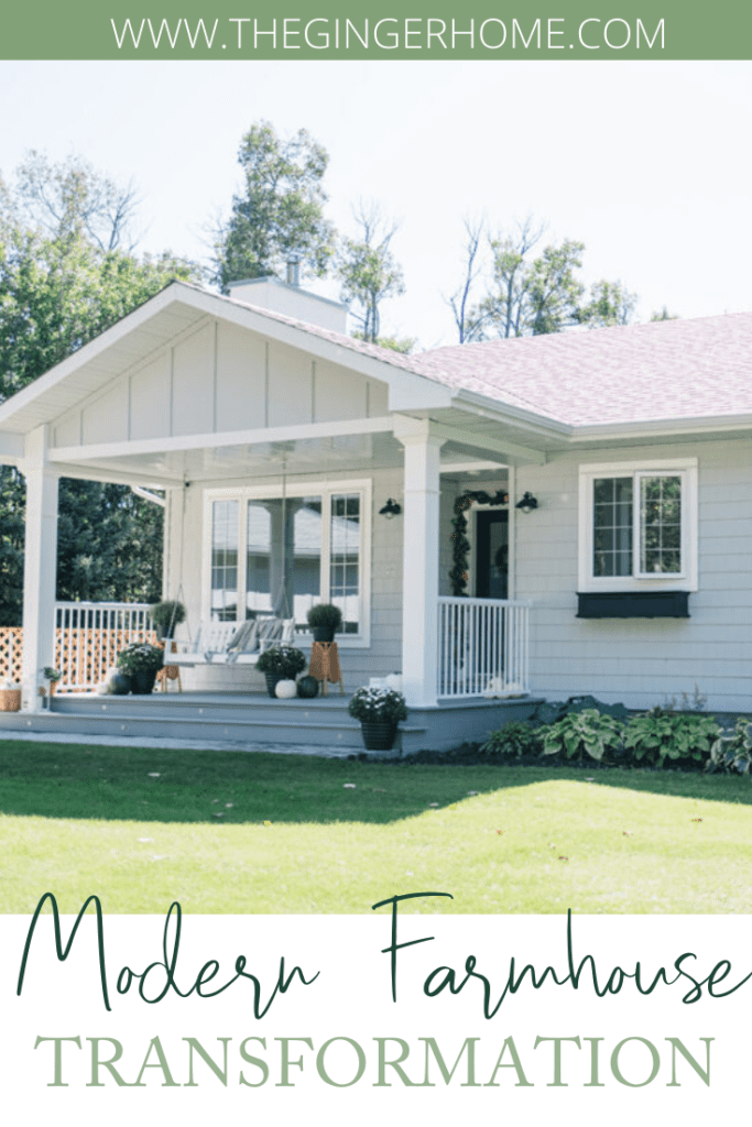A Modern Farmhouse Transformation - view of the front porch