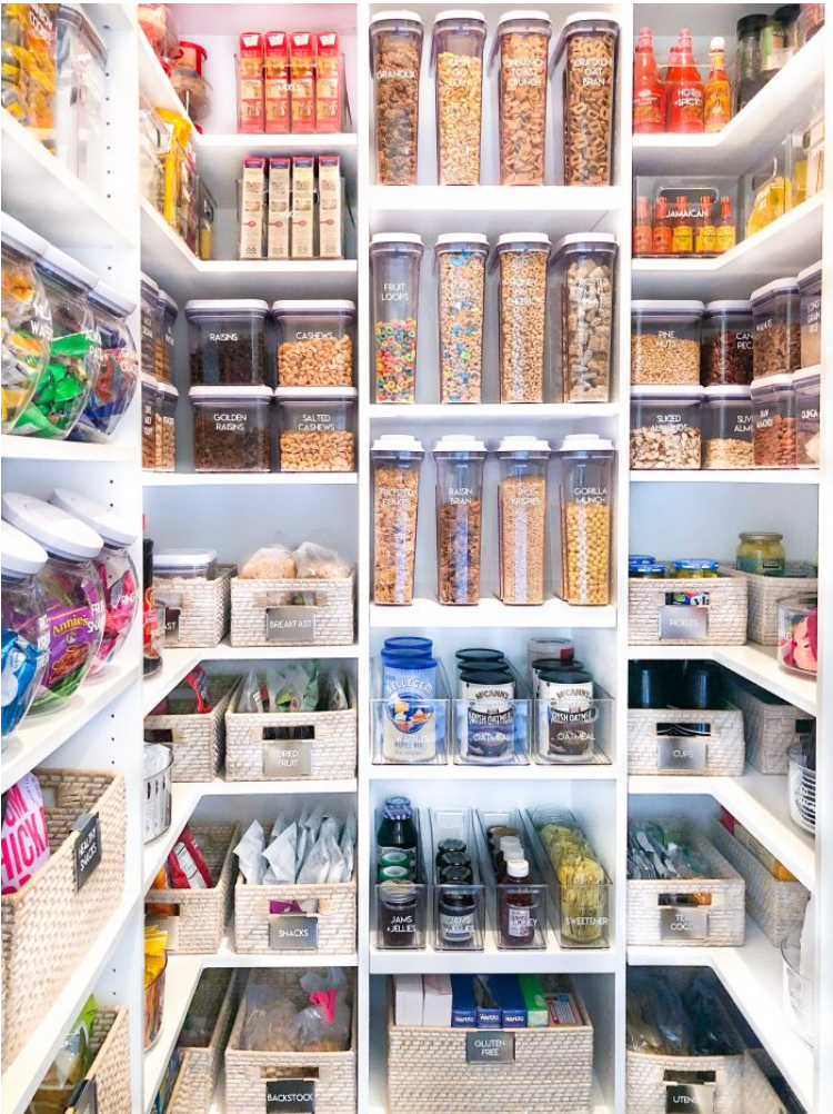perfect and colour coordinated pantry organization