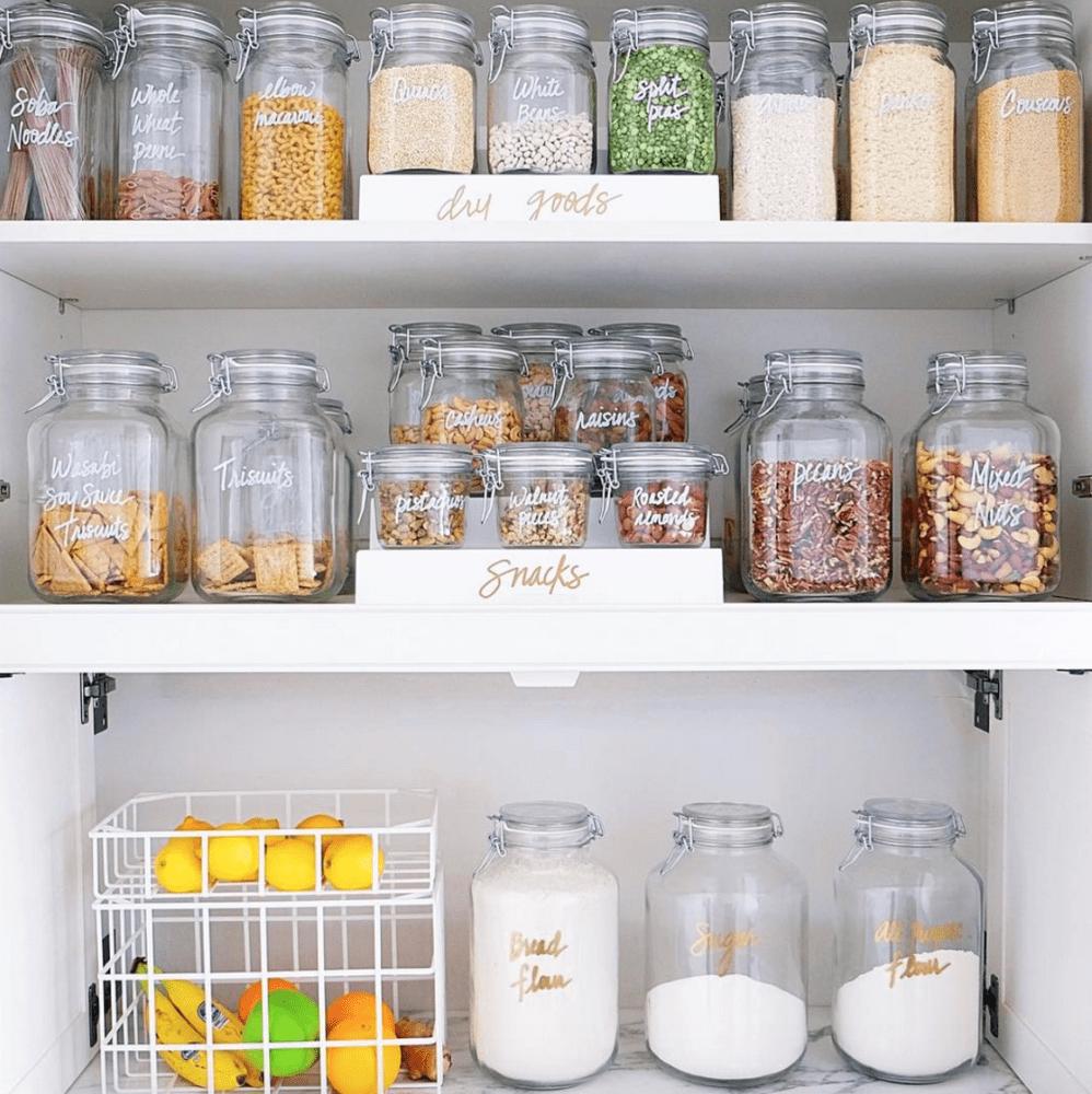 pantry organization using vertical storage options