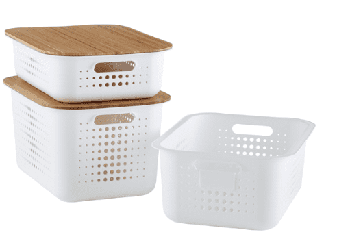 Nordic style containers allow you to get organized in style
