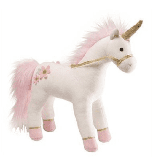 A stuffed unicorn makes a great gift for kids