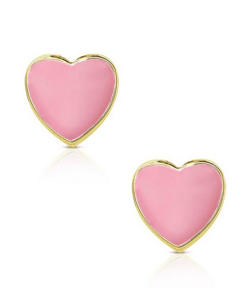 heart earrings make a sweet Valentine's Day gift ideas for kids