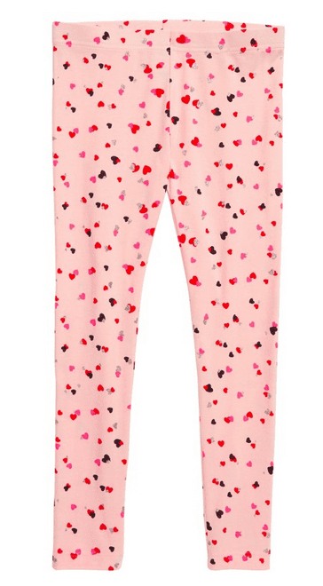 Fun pink pants for Valentine's Day